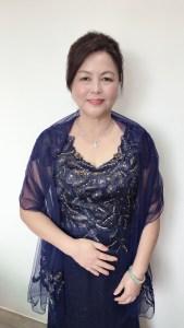 媽媽妝髮藍色禮服