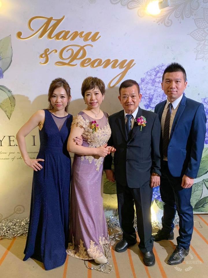 媽媽手工禮服,婚禮現場晚禮服,簡單時尚晚禮服