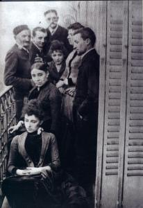 The Claudel family and Jessie at their Montparnasse apartment.