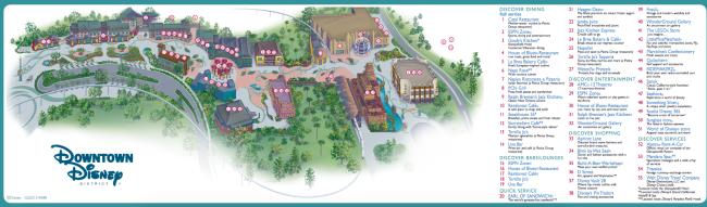 disneyland downtown disney map pdf