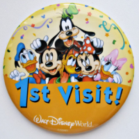 Head to Guest Services at the Magic Kingdom for this commemorative button