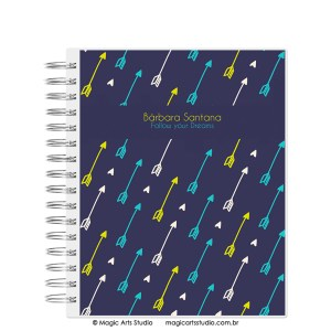 Magic Planner tamanho Large com wire-o prata - Arrows