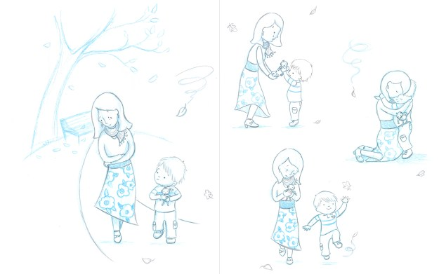 Sketches from Something Very Sad Happened
