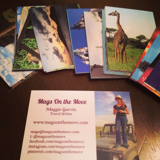 Mags on the Move business cards from Moo.com