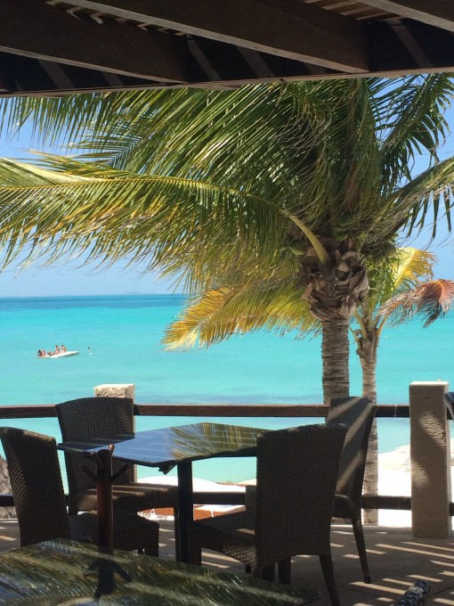 Fantastic View from Isla Contoy Restaurant at The Fiesta Americana Grand Coral Beach in Cancun, Mexico
