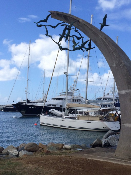 Ferry port in Marigot, Saint Martin