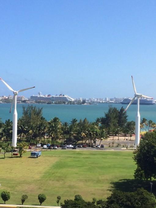 View from Casa Bacardi Distillery in San Juan, Puerto Rico