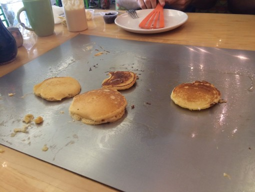 Make pancakes on your table at the Funky Brunch Cafe in Savannah, GA