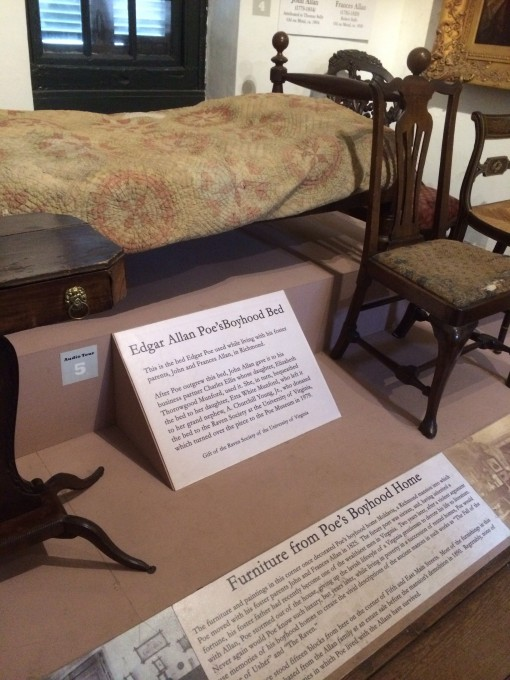 Furniture from Edgar Allan Poe's Childhood home at the Poe Museum in Richmond, VA