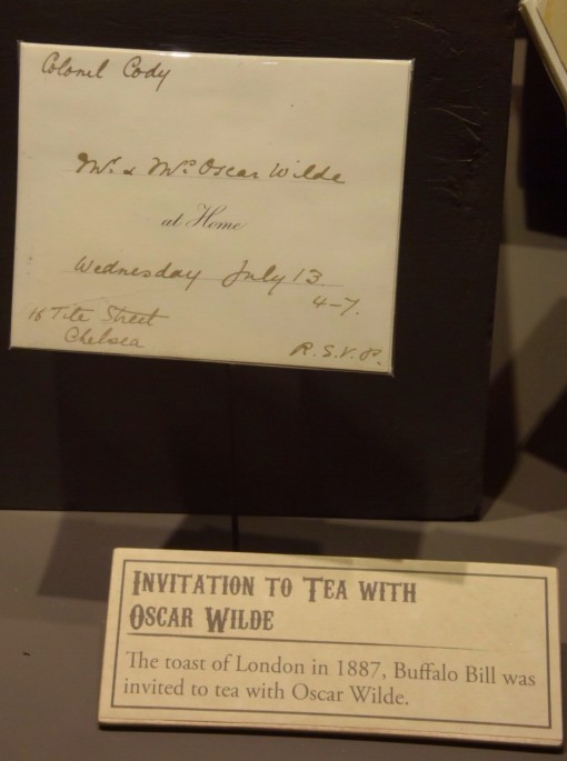 Invitation to tea from Oscar Wilde to Buffalo Bill Cody at Buffalo Bill Museum and Grave on Lookout Mountian in Golden, CO