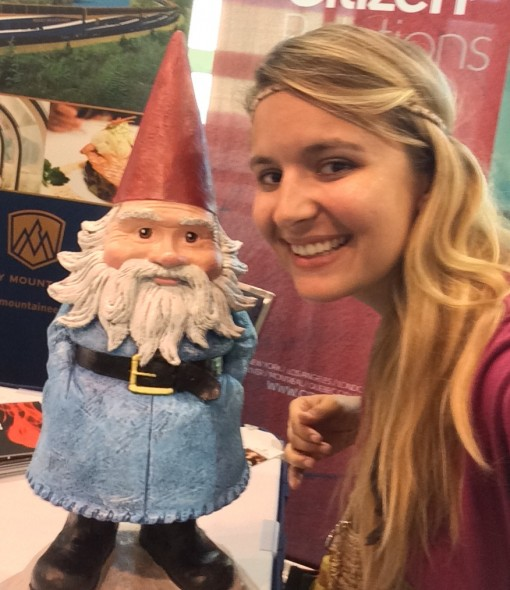I met the Travelocity Roaming Gnome!