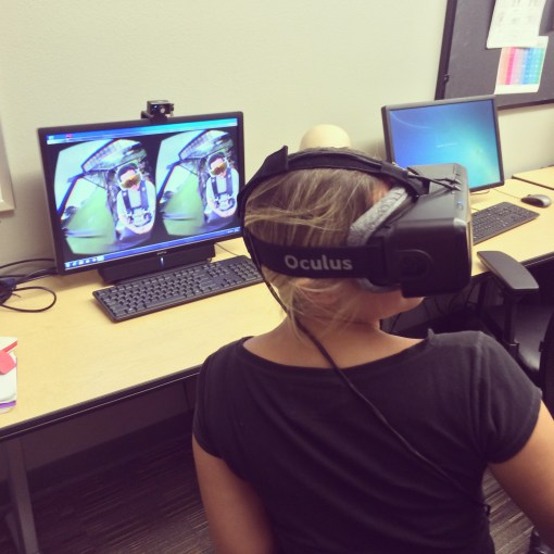 Playing around with the Oculus RIFT at the Digital Media Institute at Intertech in Shreveport, LA