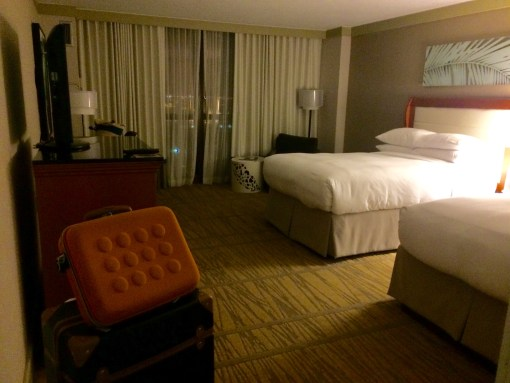 Room at the Doubletree Miami courtesy of Fathom Travel as we await our fate.