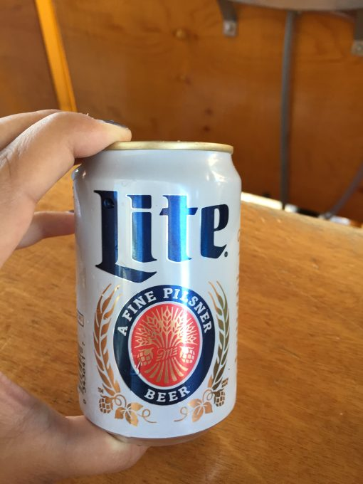 Kid sized can of Miller Lite - 5 Drinks you Must Have in Milwaukee - Mags on the Move