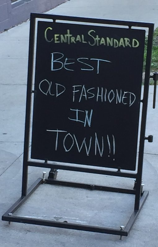 """Central Standard, home of the self proclaimed """"best Old Fashioned"""" in Milwaukee"""