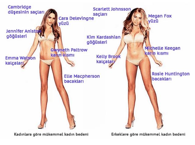 İdeal Seksi Kadın Vücudu