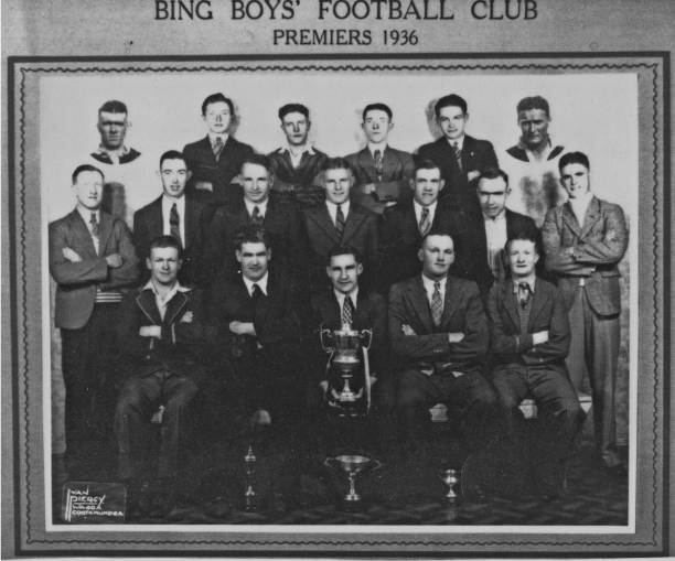 Cootamundra didn't form a team for the Maher Cup in 1936 and the Bing Boys were the best team in town. Players included: Clem Scrivener (captain), B. Sheedy, J. Sheehan, C. Rowe, Alf Broughton, A. Daidy, T. Roberts, V. Weymouth, A. Powell, A. Kelly, V. Hugo, F, Ryan and F. Tyrell.