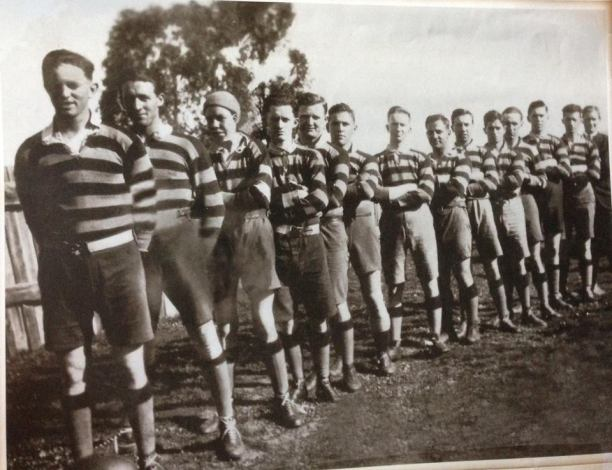 A Cootamundra team from 1922 (possibly the Bing Boys). Tom McDevitt, Eric Weissel, Sid Chambers, Mick Rooney, Brian O'Connor, Tom Doran, Tom Ryan, Jack Sissian, Percy Mills, Dave Young, John Thomas, Tom McGuigan, Bill Kelly, Jack Deal, John Weissel. Sources: Carmel O'Rouke on Cootamundra Remembers via Facebook and the Wal Galvin collection