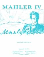 MahlerFest IV - 1991 Program Book