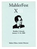 MahlerFest XIII - 2000 Program Book