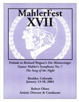 MahlerFest XVII - 2004 Program Book