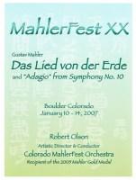 MahlerFest XX - 2007 Program Book