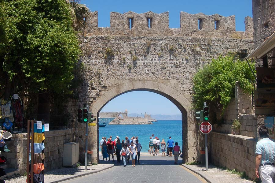 photo essay  the greek islandsthe old town part of rhodes  greece is still surrounded by its impressive medieval wall