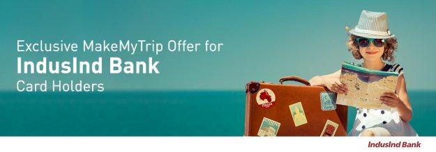 Makemytrip IndusInd Bank Offer