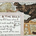 "A Bears and bees, illustration by Walter Crane from Baby's Aesop,"" published in 1887"
