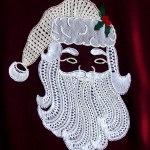 Father Christmas bobbin lace pattern