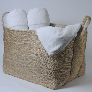 Square jute basket