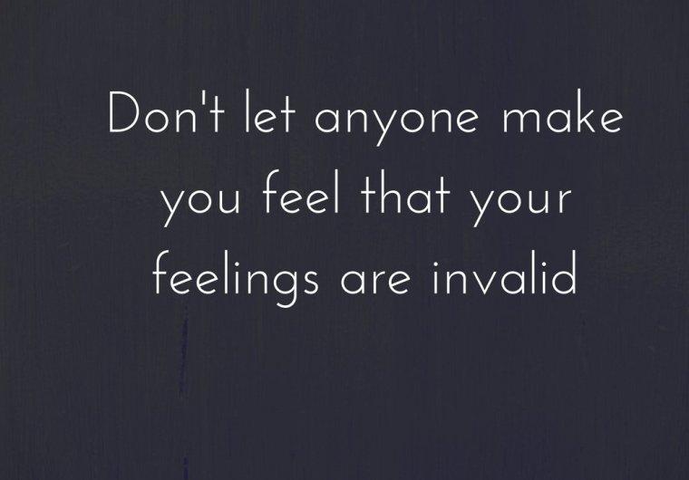 Invalidation of feelings