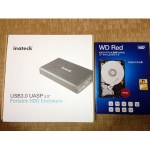 「WD Red HDD」と「Inateck HDD外付けケース(FE3001)」を組み立ててみた