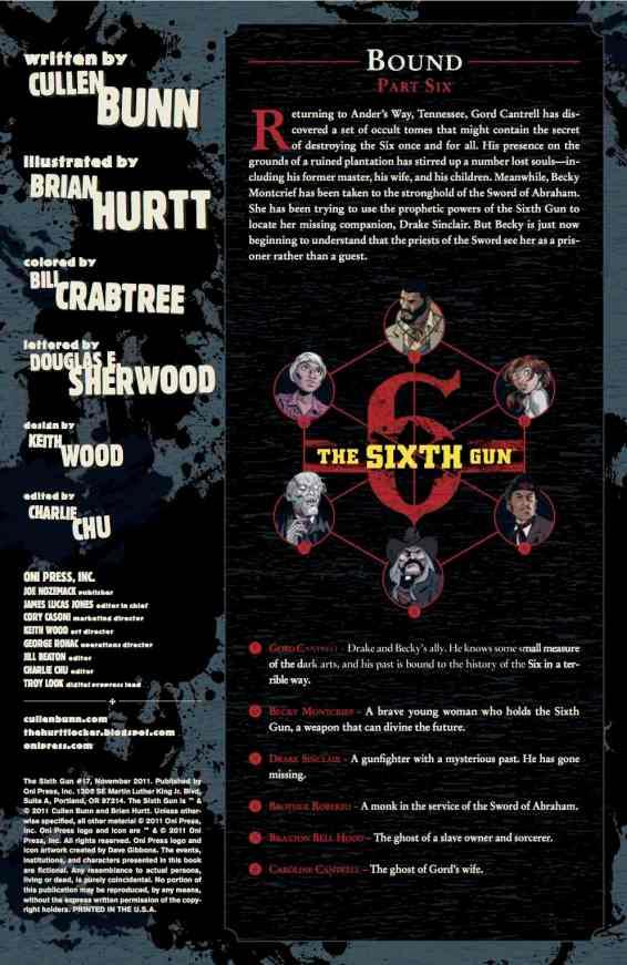 SIXTH GUN 17 PG 1