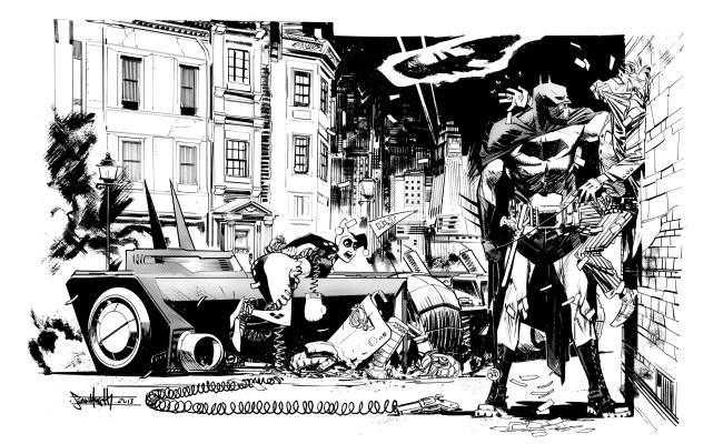Batman, Harley Quinn, and The Joker by Sean Gordon Murphy.