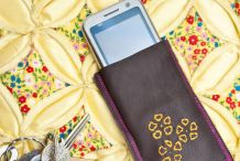 Phone Home Leather Smartphone Case from Busy Girls Guide to Sewing