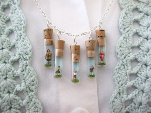 Mini Folk Charm&nbsp;Necklace