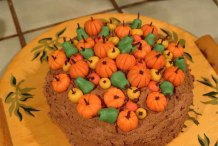 Almond Paste Pumpkins