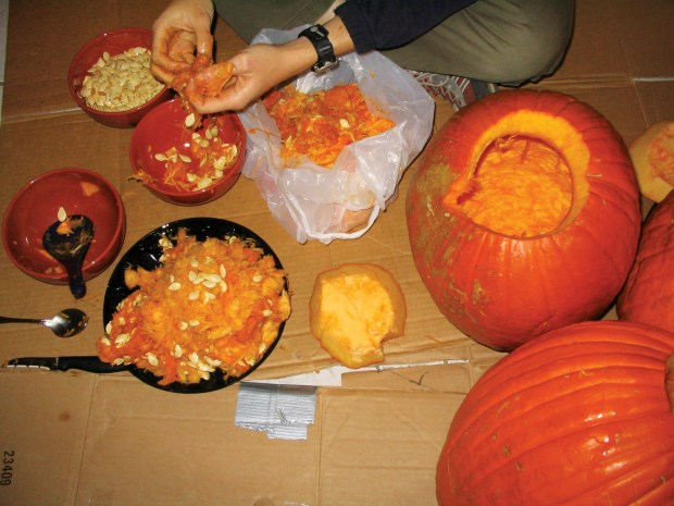 Roasted Pumpkin Guts
