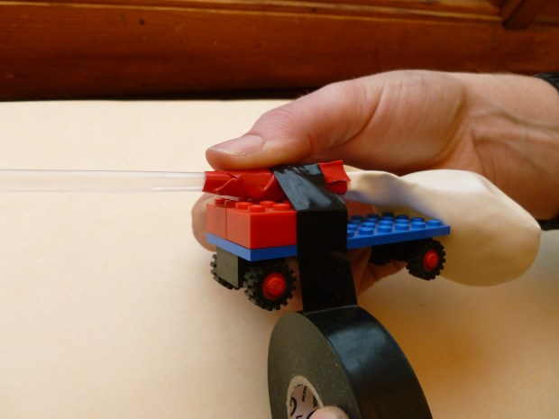 Rocket-Propelled Toy Car