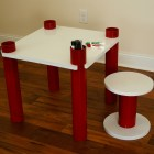 PVC Kids' Table and Stool