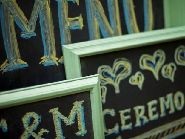 Chic Wedding Chalkboards