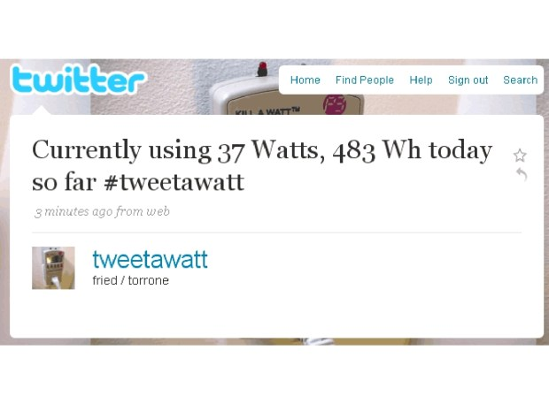 Tweet-A-Watt Power Monitor