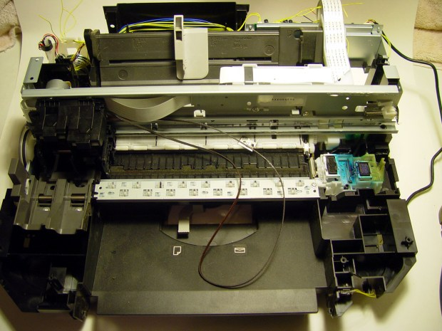 Don't Waste eWaste: UnMaking a Canon Printer/Scanner/Fax into Parts
