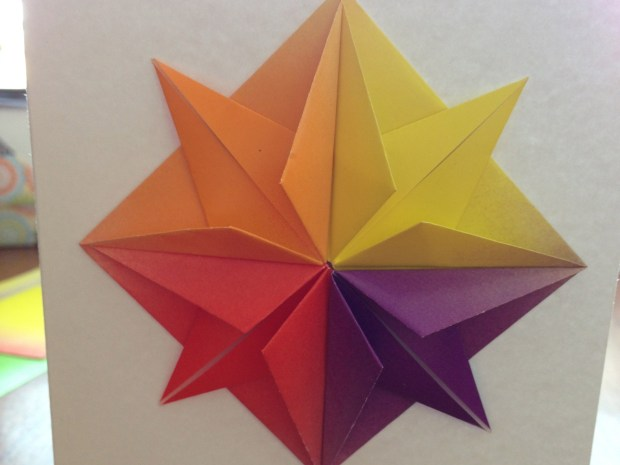 Origami Star & Greeting Card
