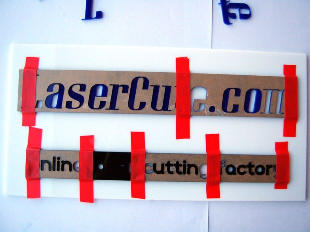 Laser-Cut Sign Designed in Your Browser
