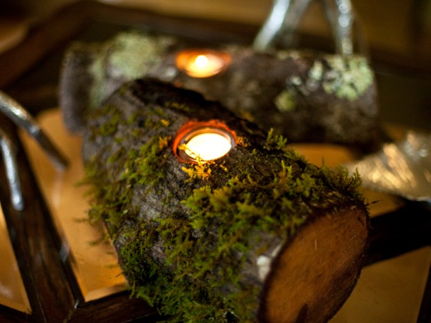 Rustic Woodland Candleholders