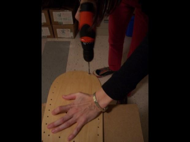 Stitched Skateboard