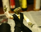 Business Lizard and Brief Case Diorama