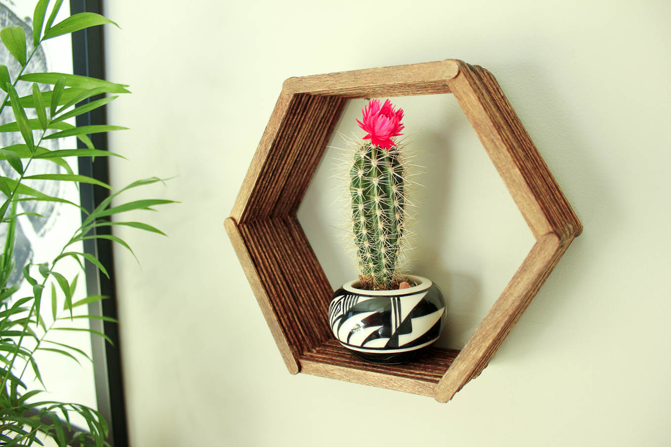 Diy Wall Art Popsicle Stick Hexagon Shelf Part I Make